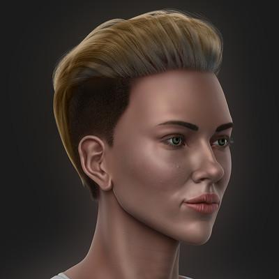 Scarlett Johansson Likeness Sculpt