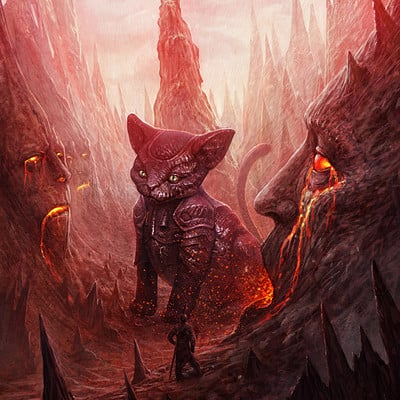Martin de diego oniric mars cats by almanegra d7evi2k