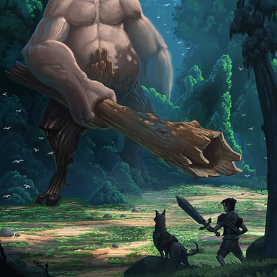 Travis lacey the boy and his dog monster concept art creature travis lacey 1