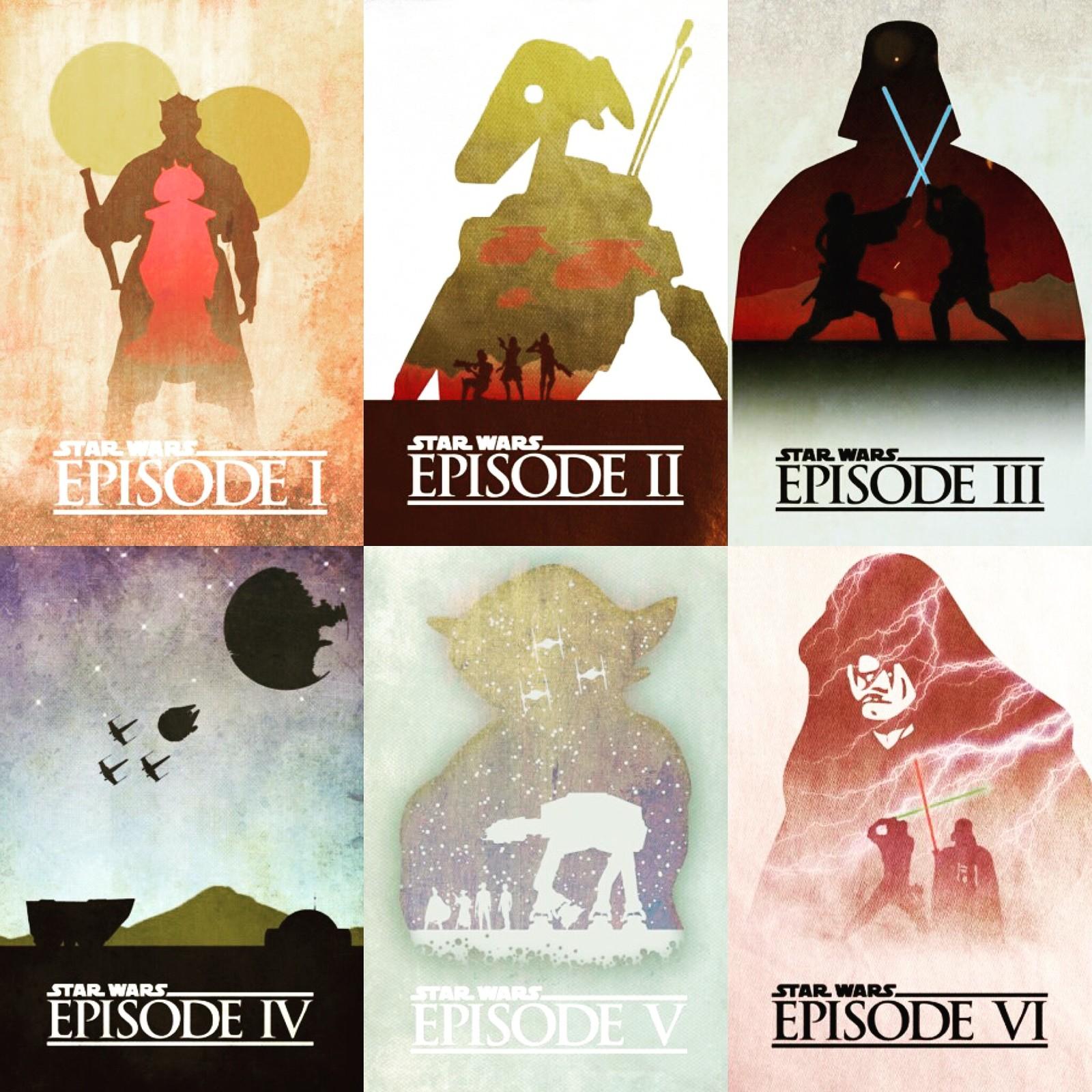 Artstation Star Wars Saga Minimalist Posters Jack Mills