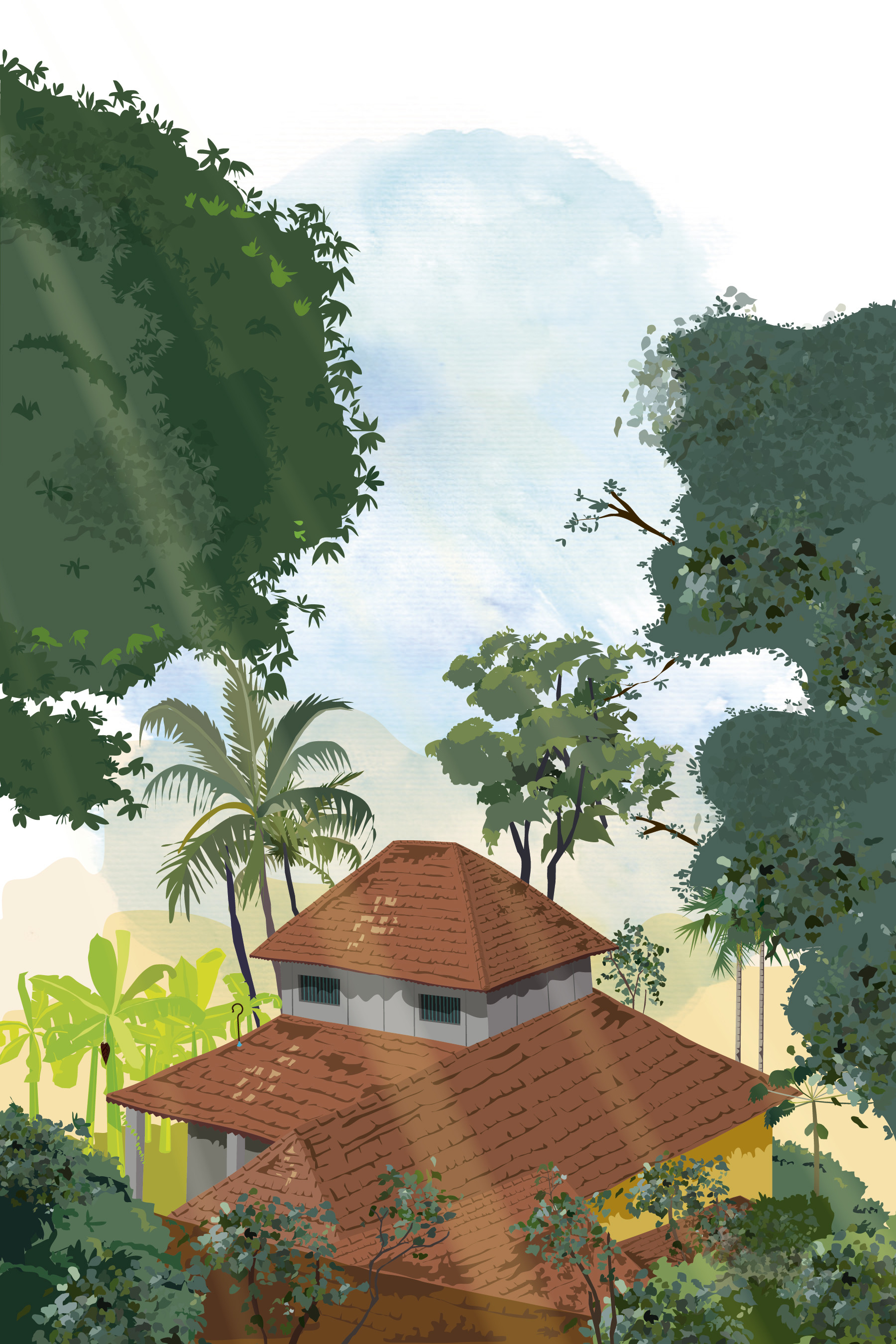 Rajesh r sawant konkan houses through trees 01