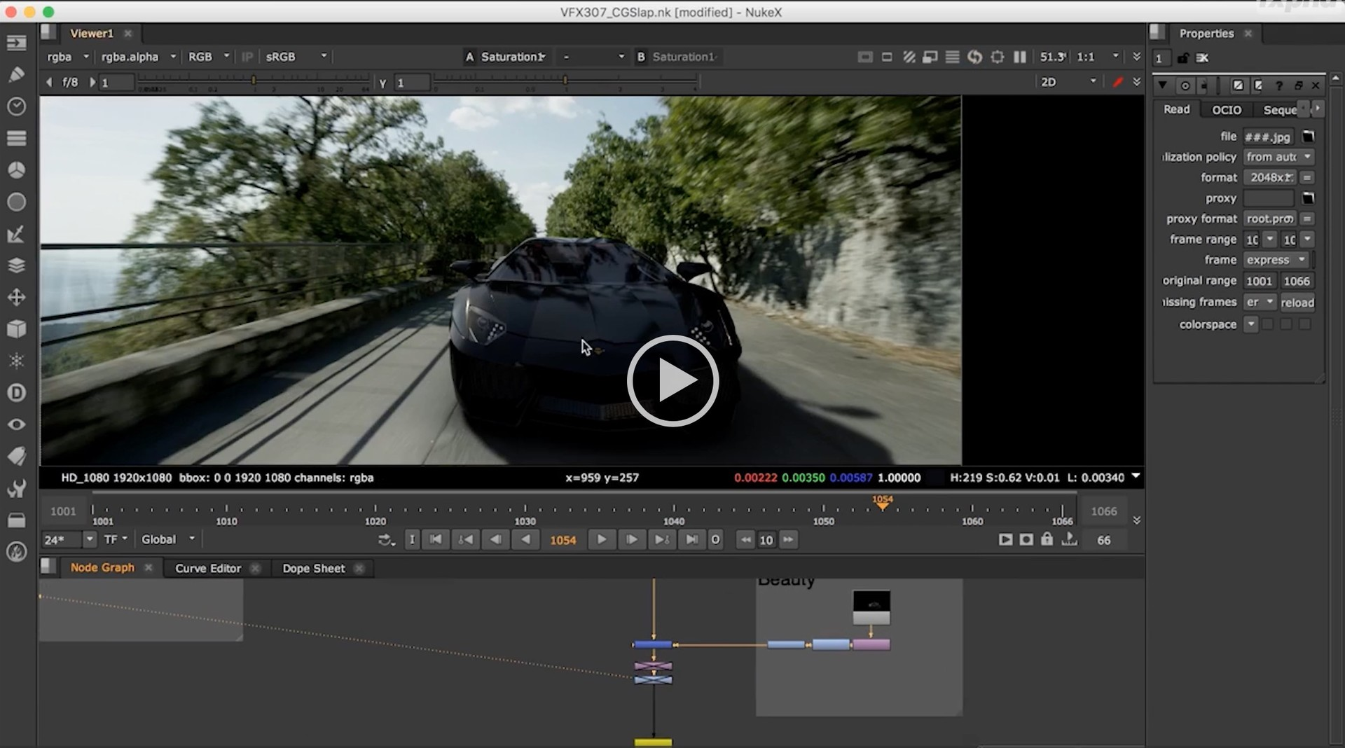 Charles Chorein - FXPHD - VFX203 - Lambourghini Lighting & Lookdev