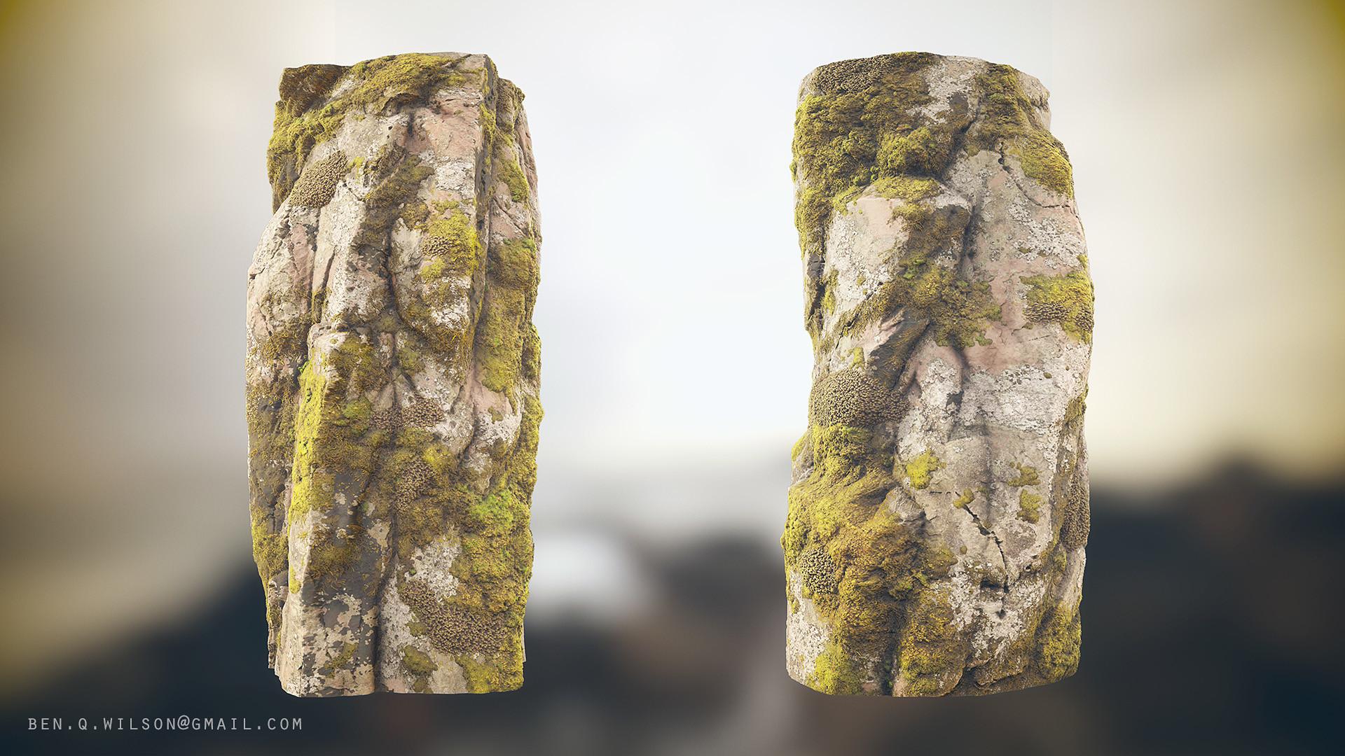 Ben wilson moss rock cylinder a