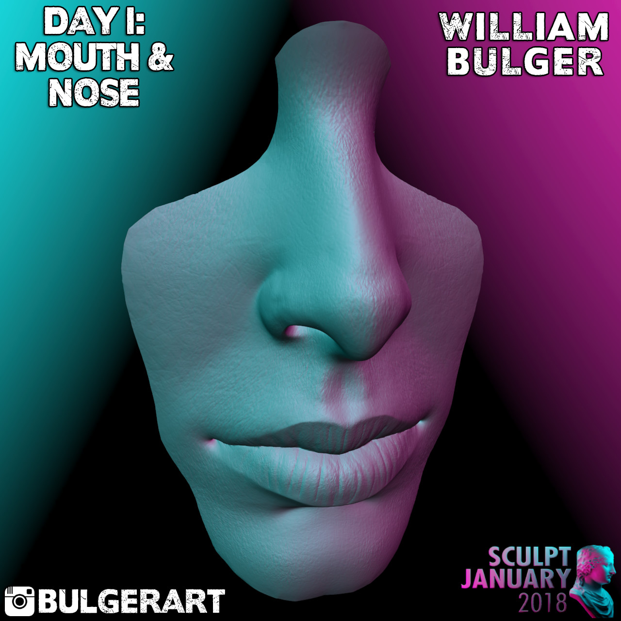 William bulger mouth and nose