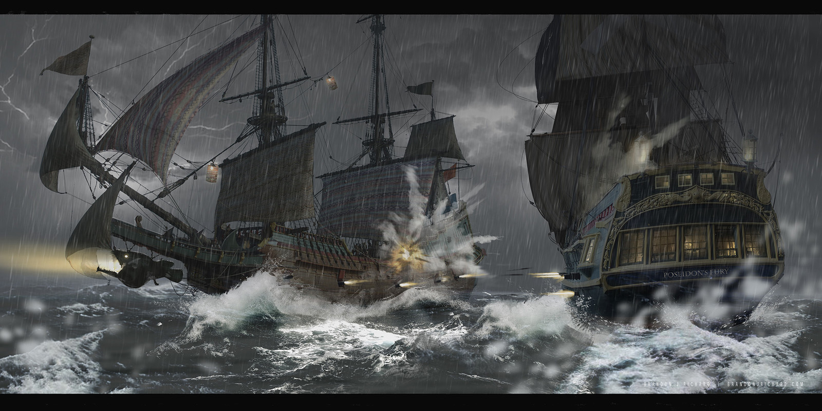 Pirate Ship Battle scene