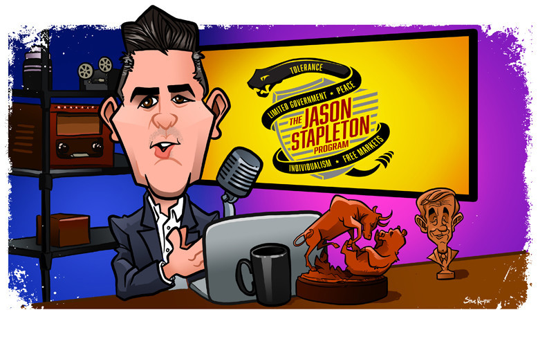 Jason Stapleton at his desk. Jason is a former marine, trader/investor, and libertarian news commentator. Check him out: http://www.jasonstapleton.com.