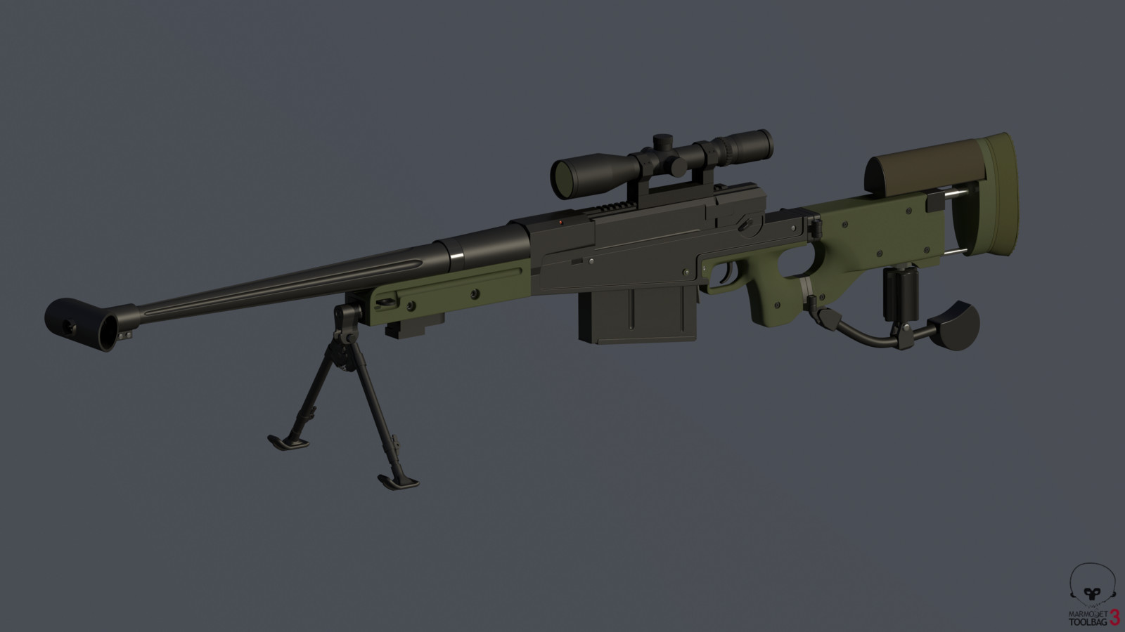 AM 50 / L121A1 with Schmidt & Bender 3-12x50 PM II Scope.  High Poly.