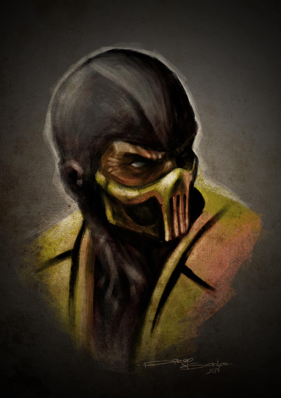 Artstation Scorpion Mortal Kombat Diego Santos