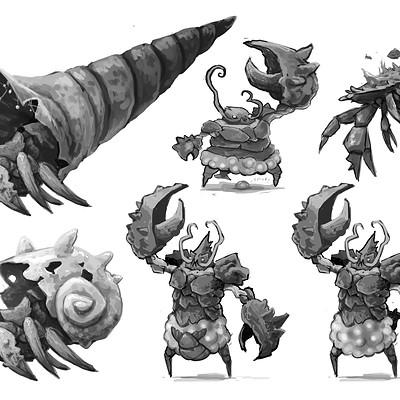 Tom garden lobster creature drafts