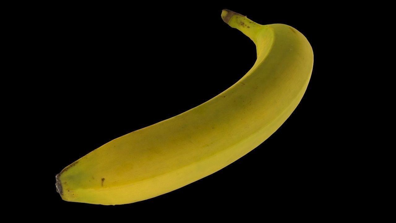 Carlos faustino banana 3d model low poly 2