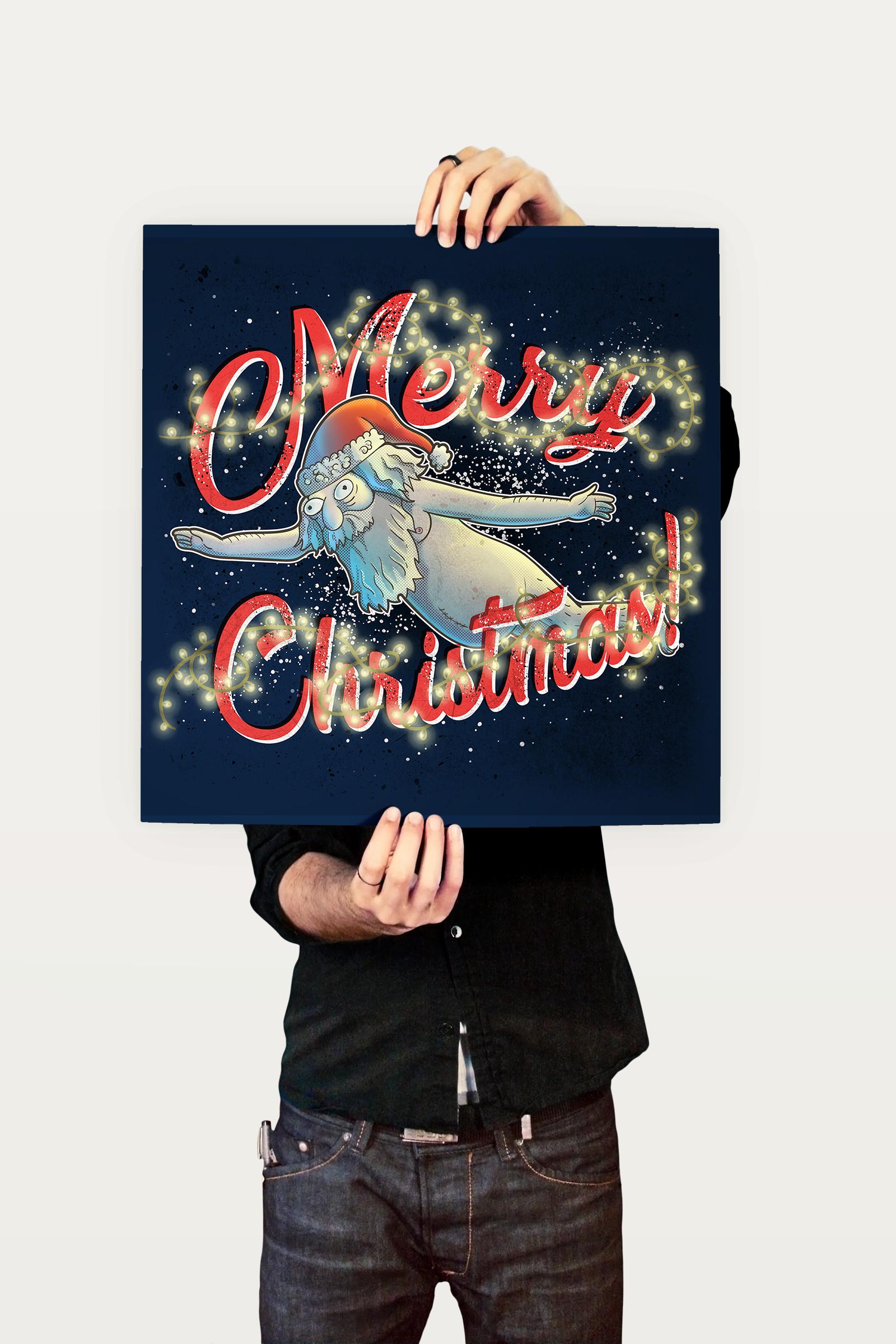 Felipe blanco merry christmas poster