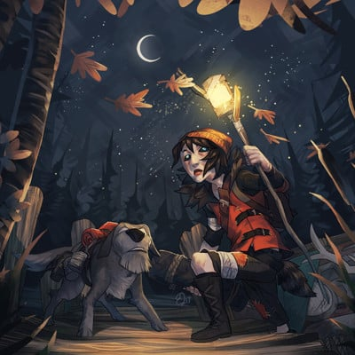 Ester zejn twflame in the flood fanart2