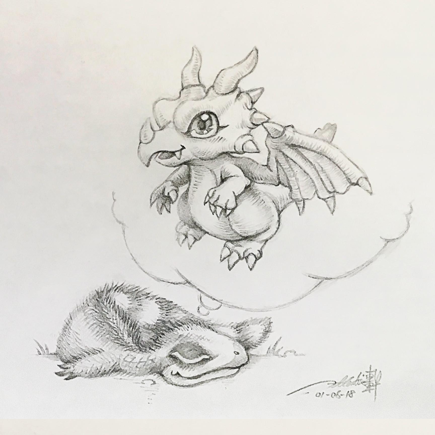 E lynx sinosauropteryx dragon