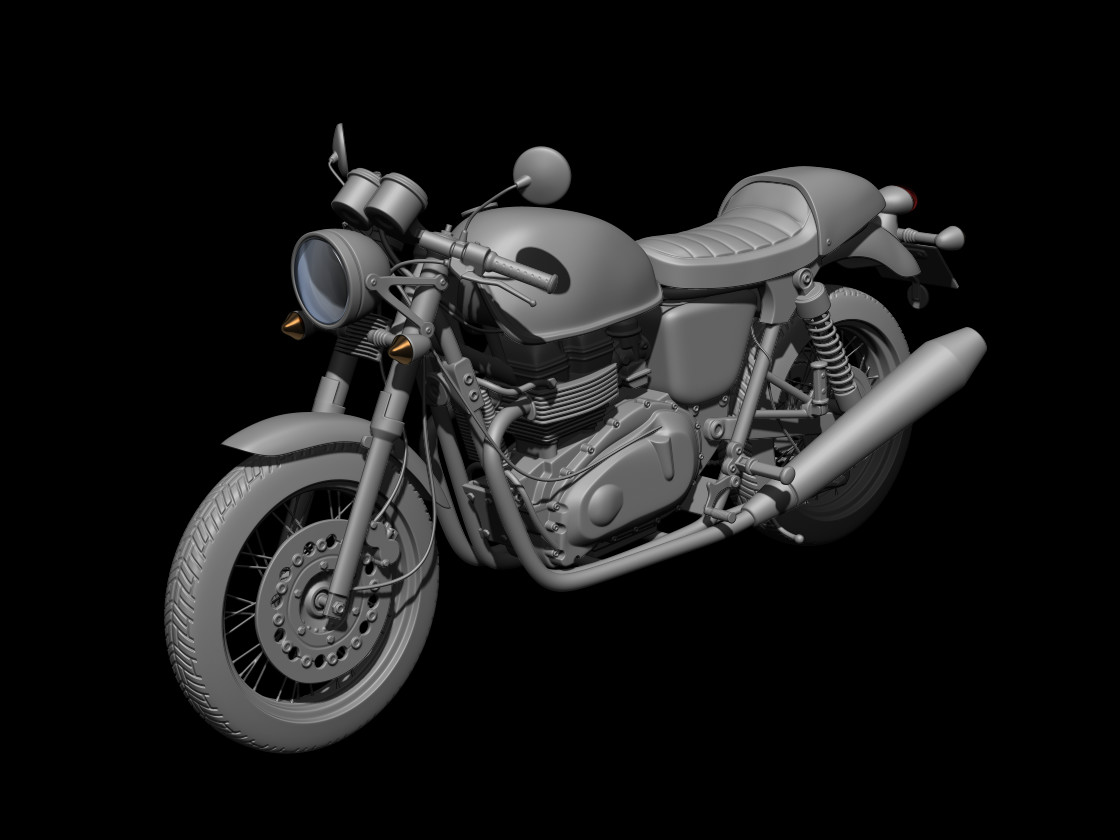 Artstation Triumph Thruxton Finished Mobile Game Moto Racer