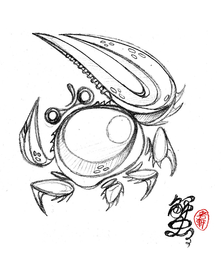 E lynx crab