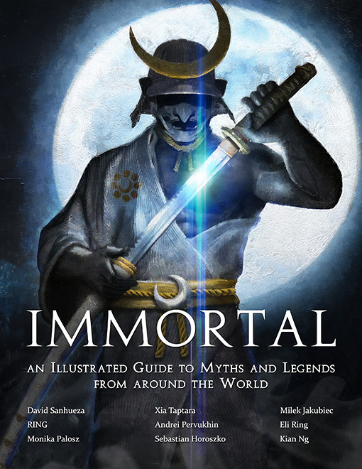 David sanhueza game o gami immortal book kickstarter cover standard 01