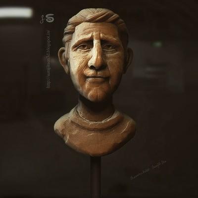 Surajit sen human face sculpt clay surajitsen 01012018 insta