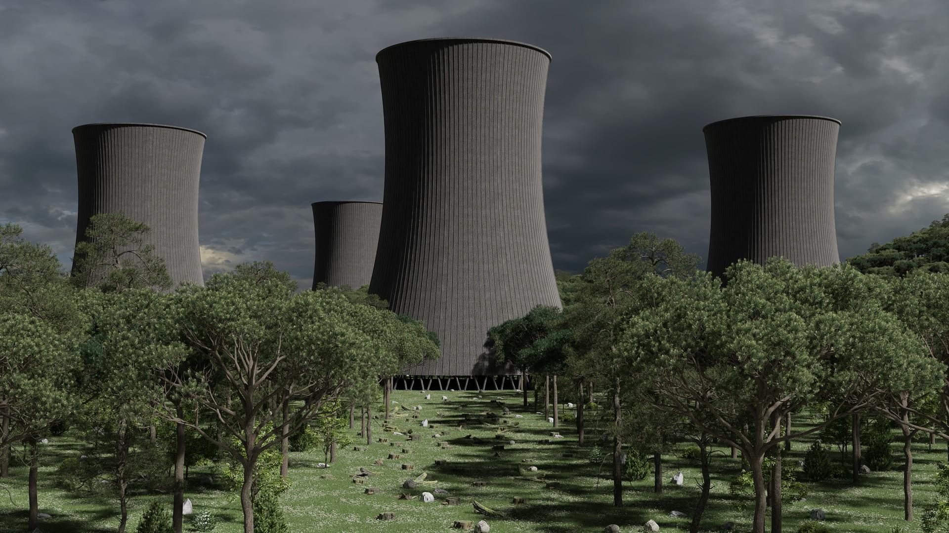 ArtStation Abandoned cooling towers Thijs van Velsen