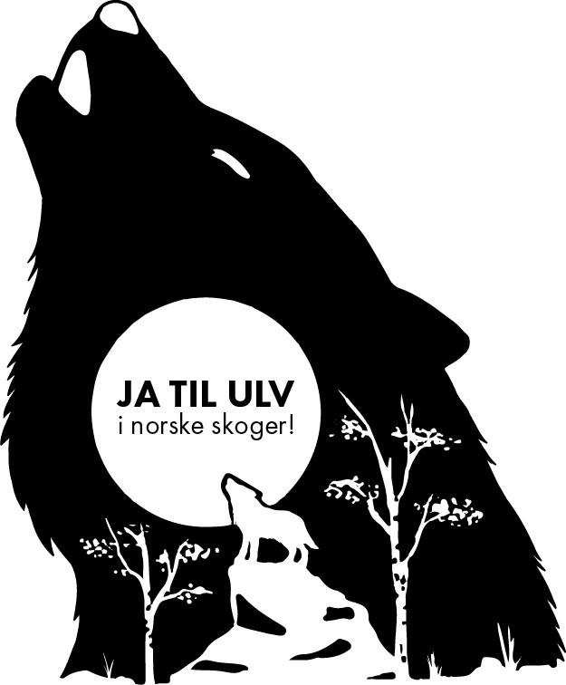 """T-shirt design """"Ja til ulv i norske skoger"""""""