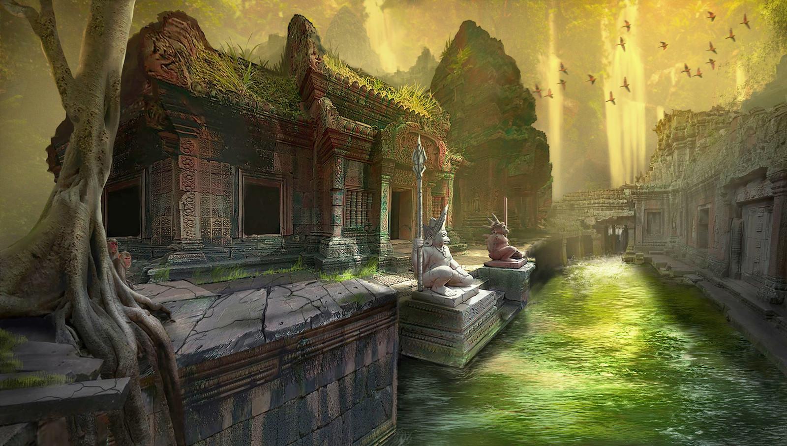 Monkey temple ruins