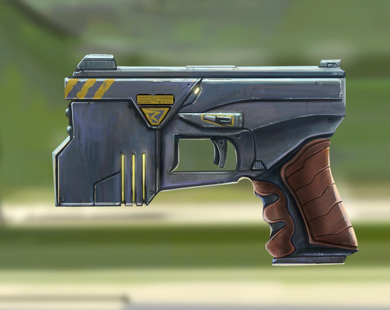 Cyberpunk shock pistol