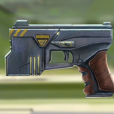 Danny kundzinsh cyberpunk shock gun concept solo