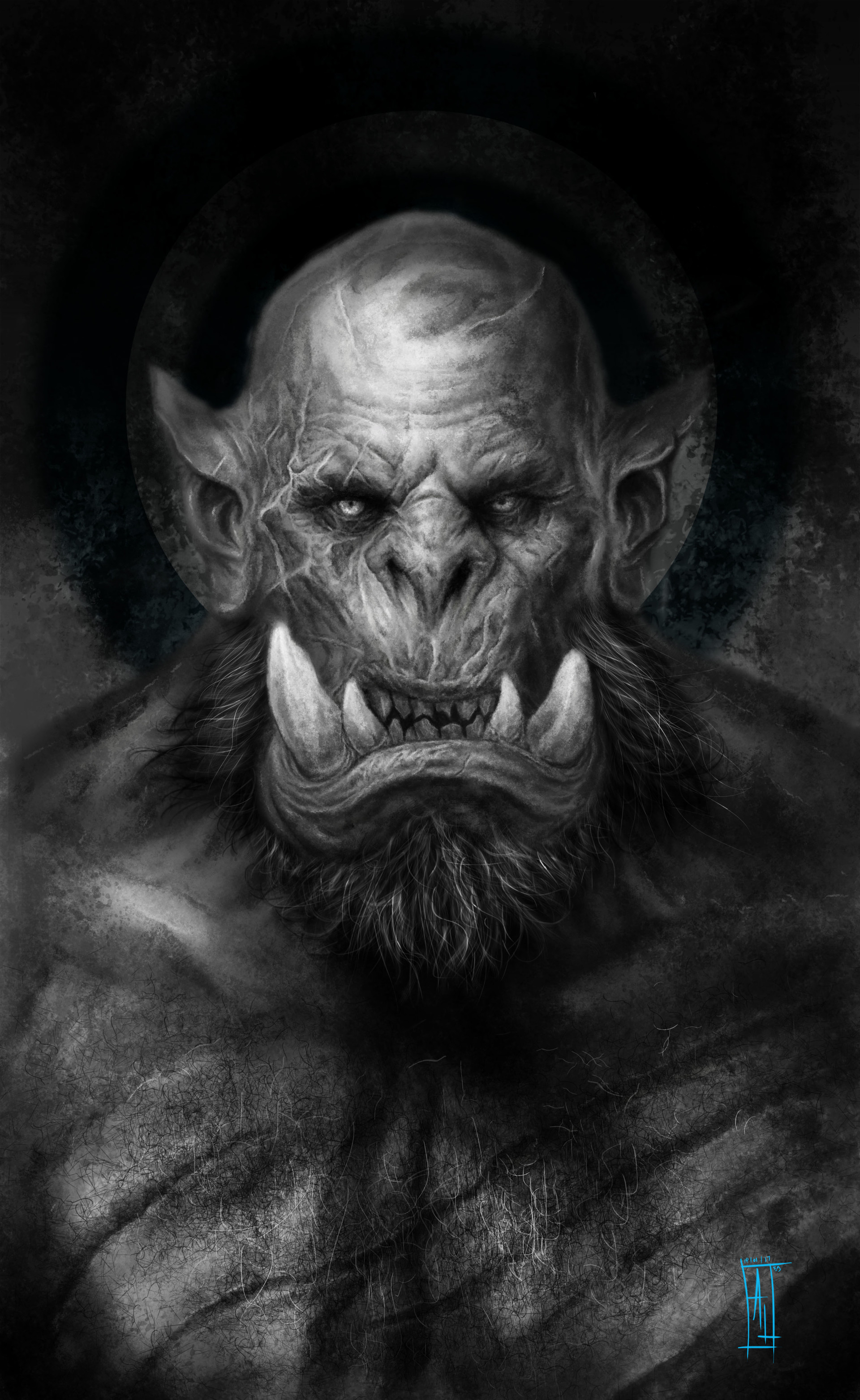 Artstation Warcraft Orc Character Design Lukie Art