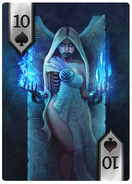 Playing card design, spades suit.