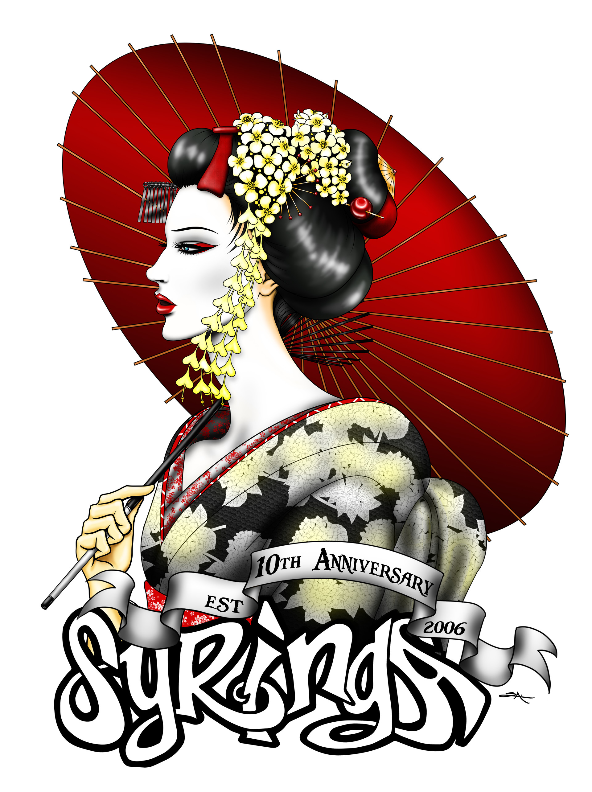 Geisha t shirt design