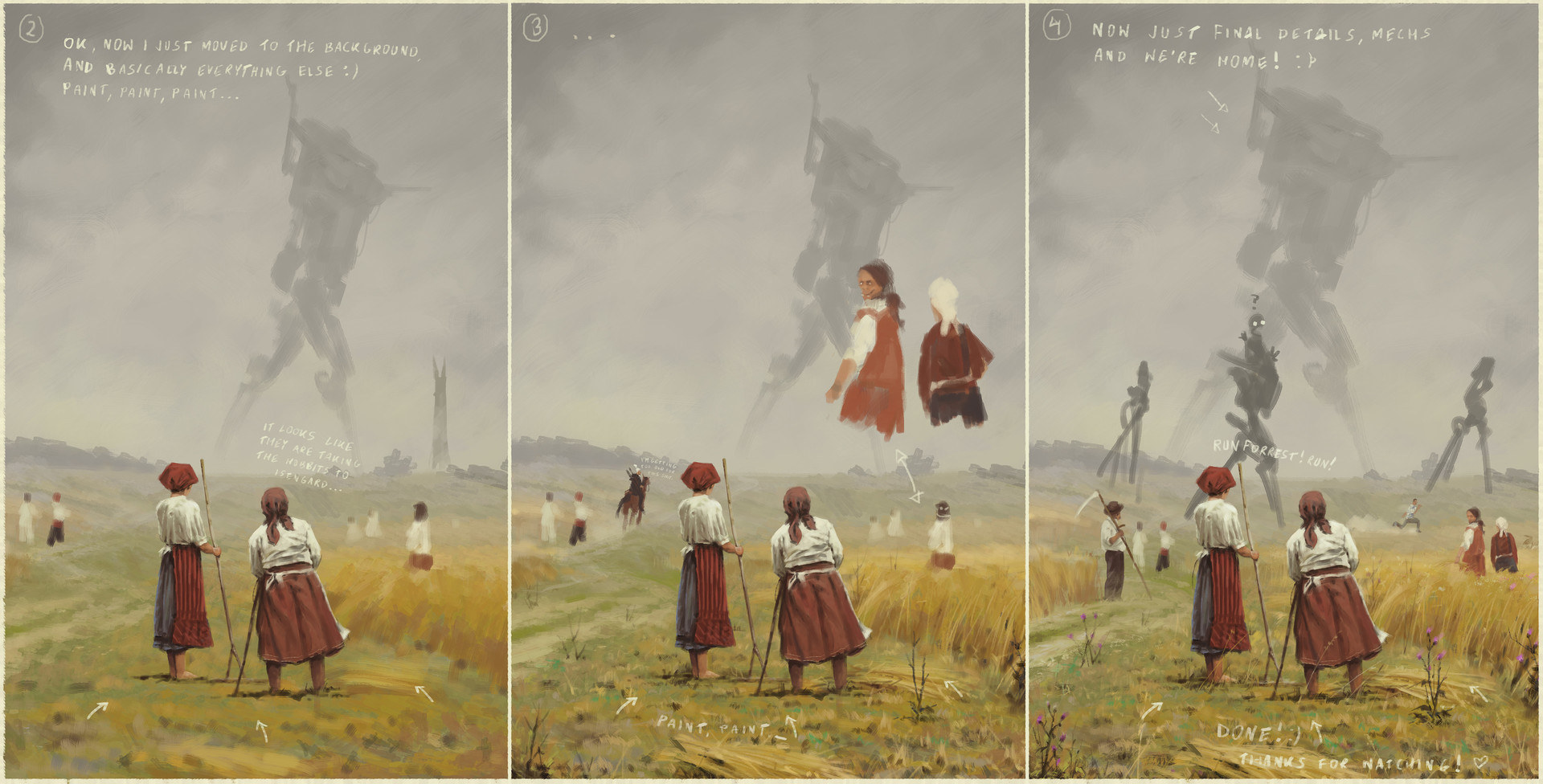 Jakub rozalski eyes of fenris 01process2