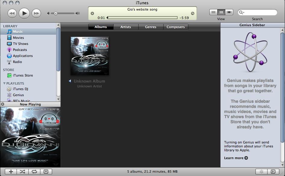 iTunes Album Design Inside The iTunes