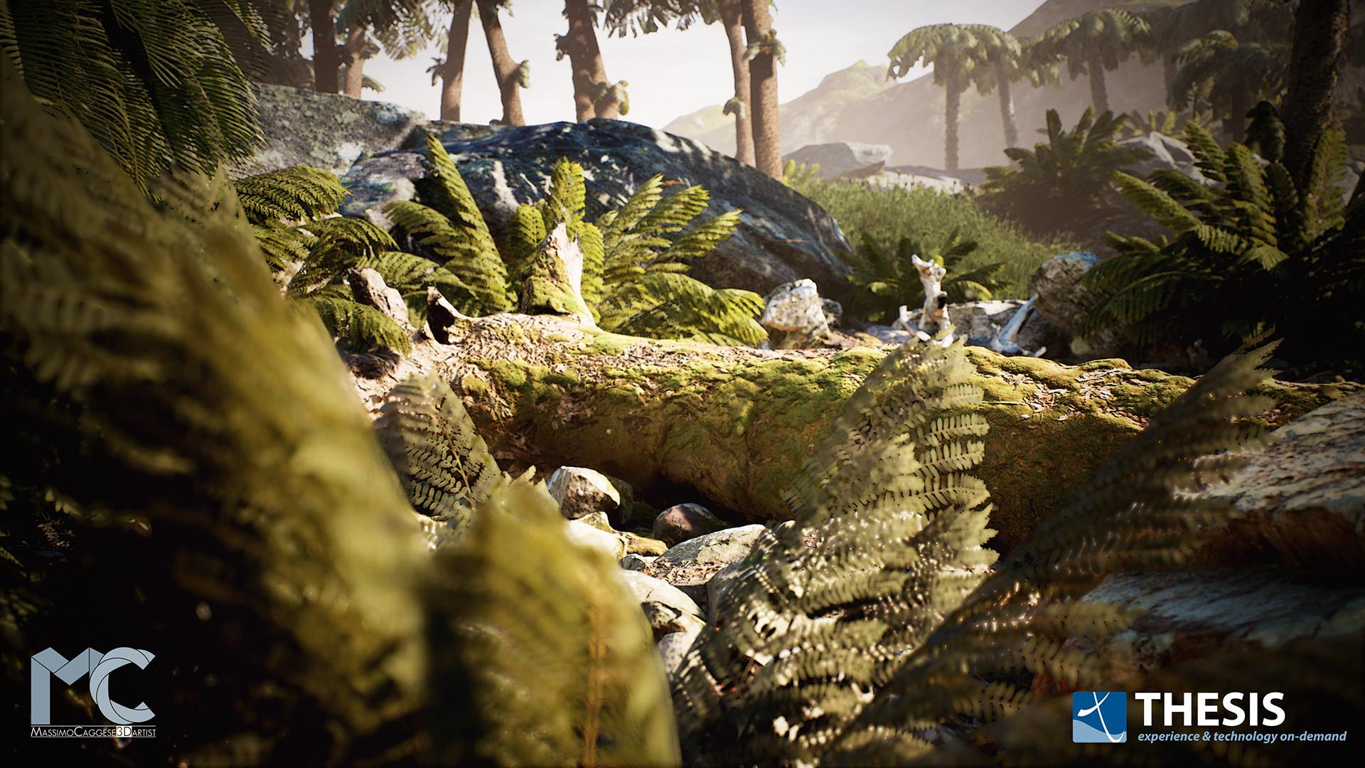 Prehistoric Habitat (Unreal Engine 4).
