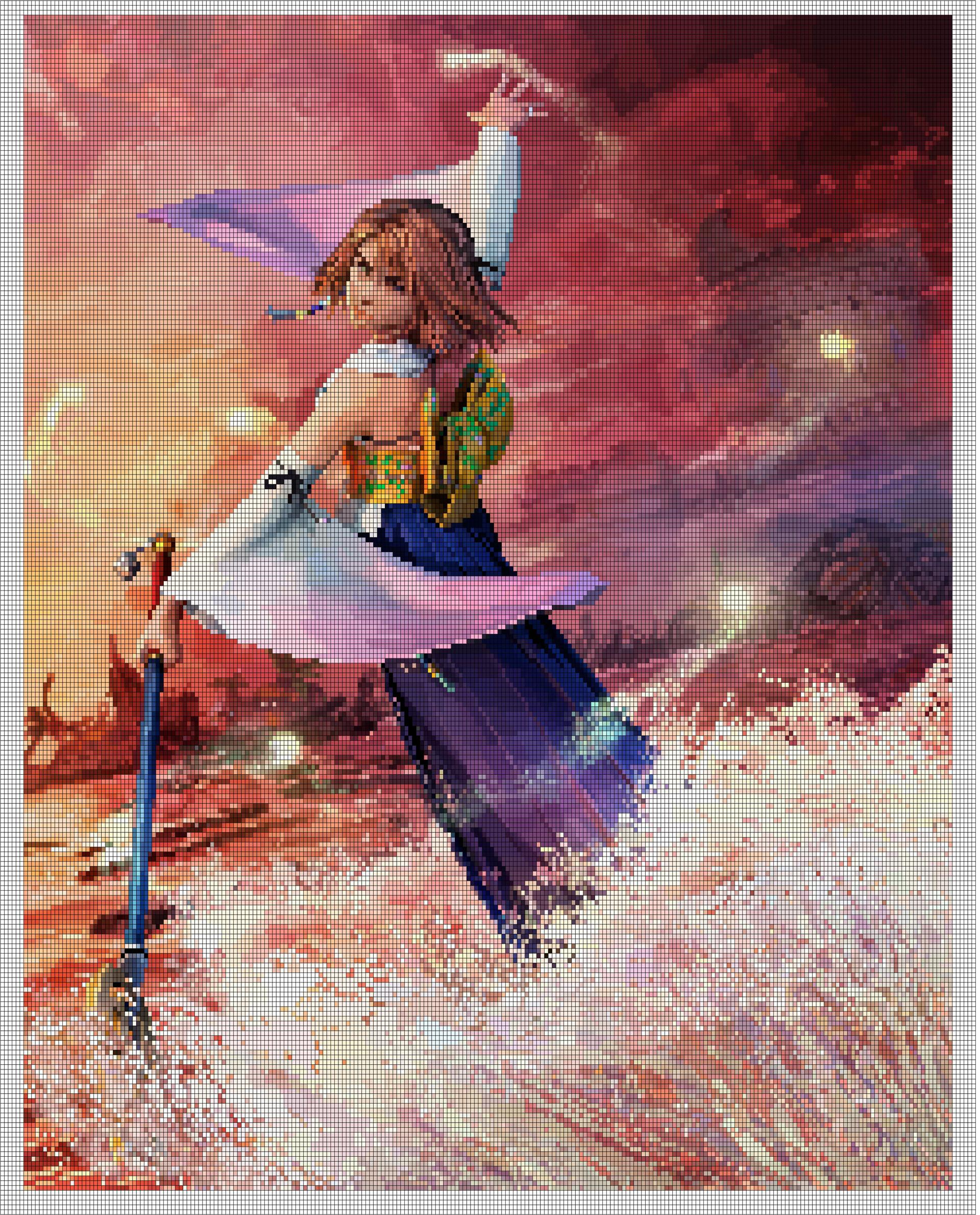 Artstation Pixel Art Yuna Final Fantasy X Erica Lucia Maekawa Rigolo