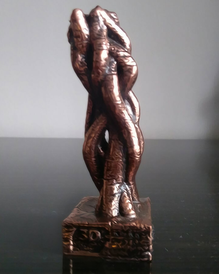 3D print out of bronze