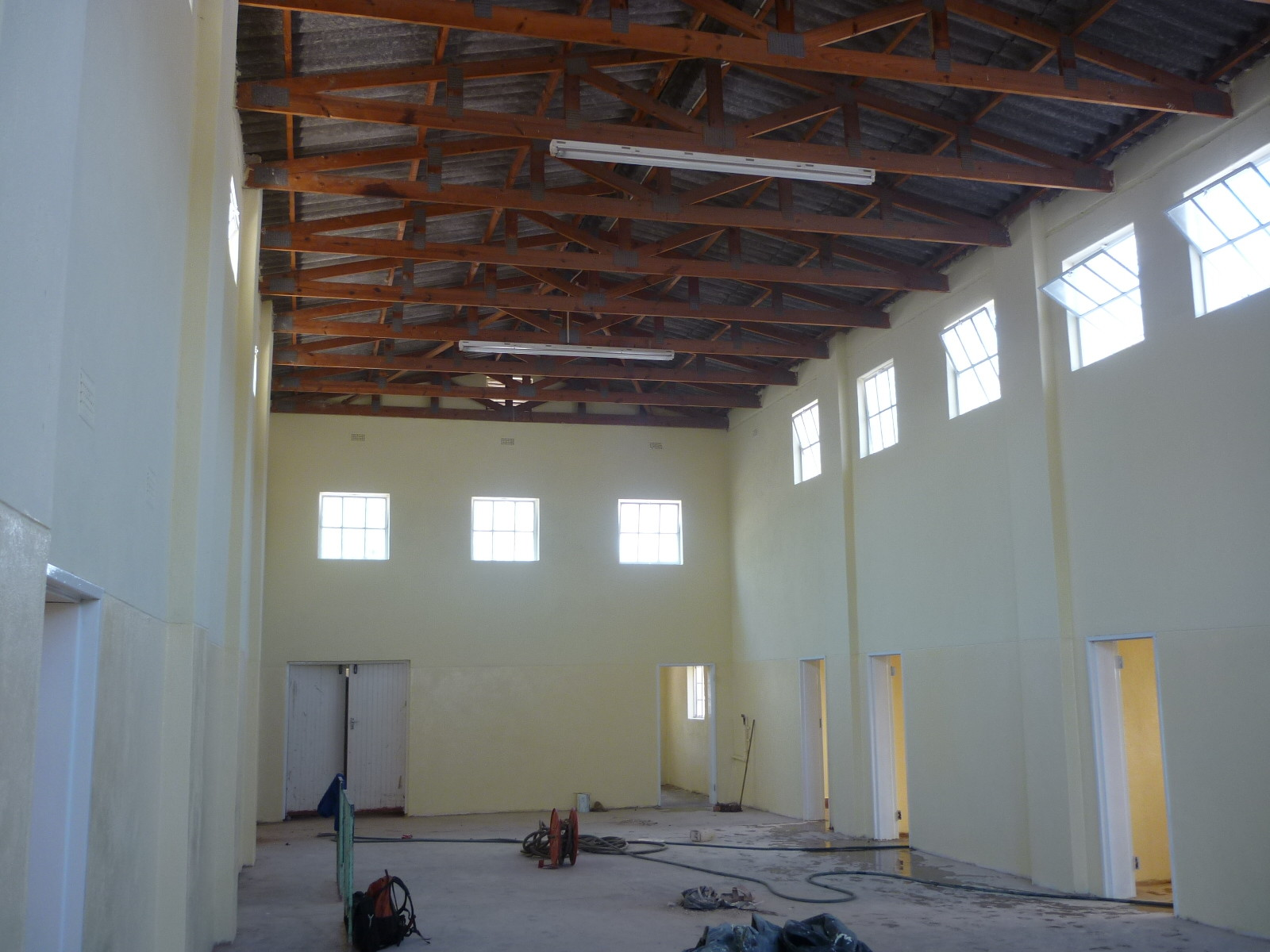Inside of the waiting area with improved airflow, cosmetic and structural improvements.