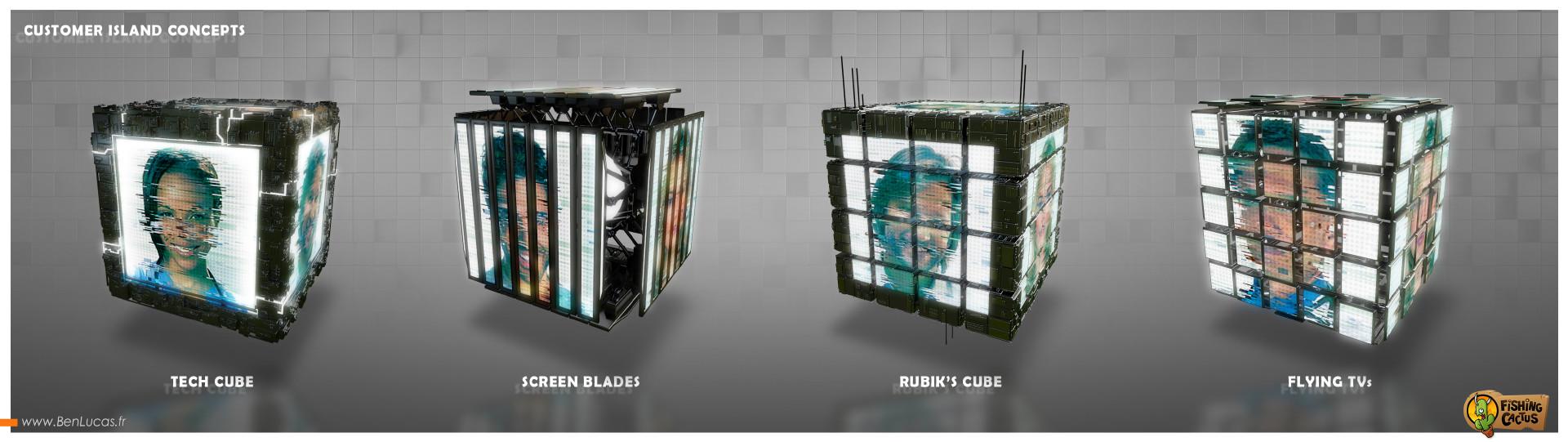 Benjamin lucas fc customer island cubes