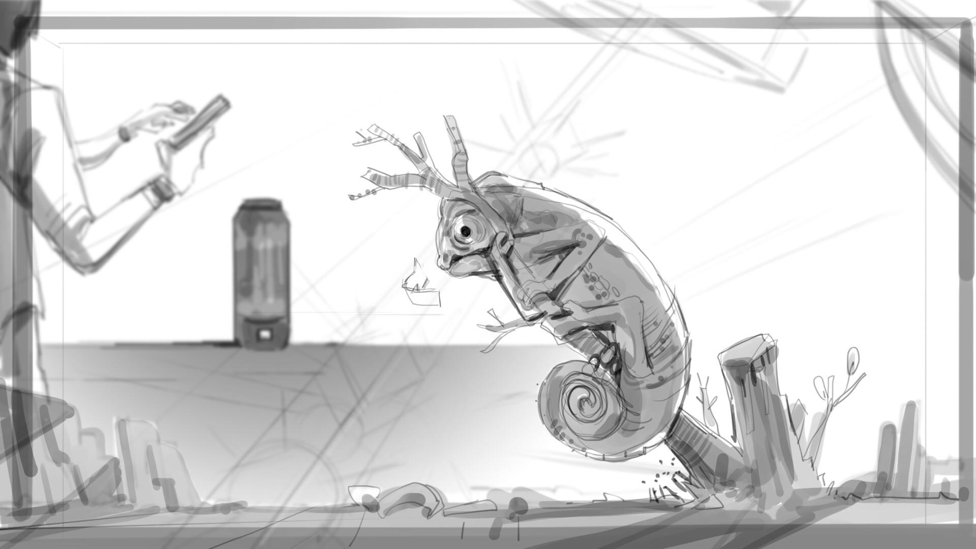 ArtStation - JBL Pulse 3 spot storyboard, Syd Fini
