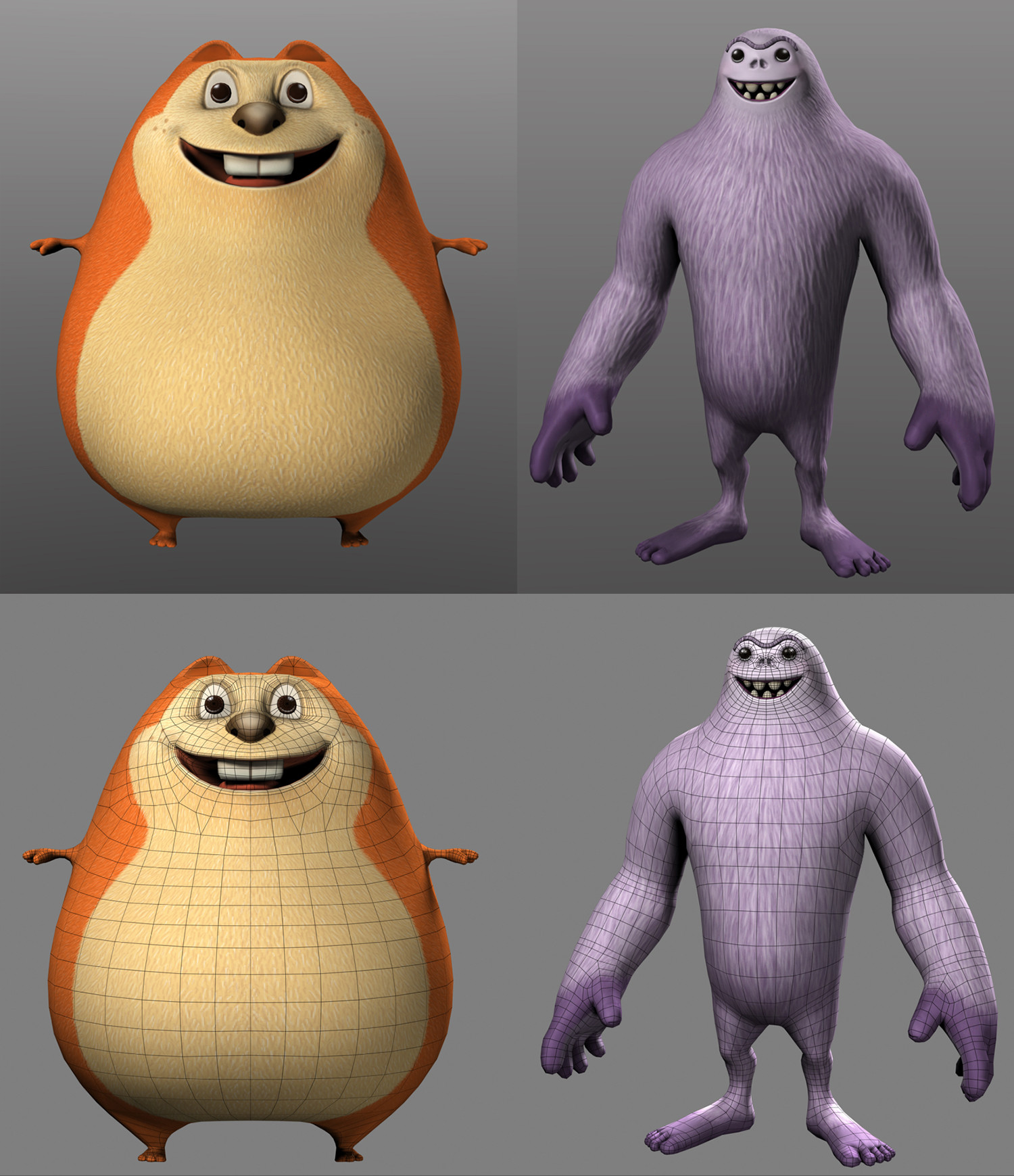 Textured Gopher and Yeti for Kinect Adventures - Microsoft Game Studios.
