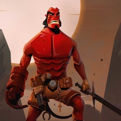 Julian nguyen you hellboy illus