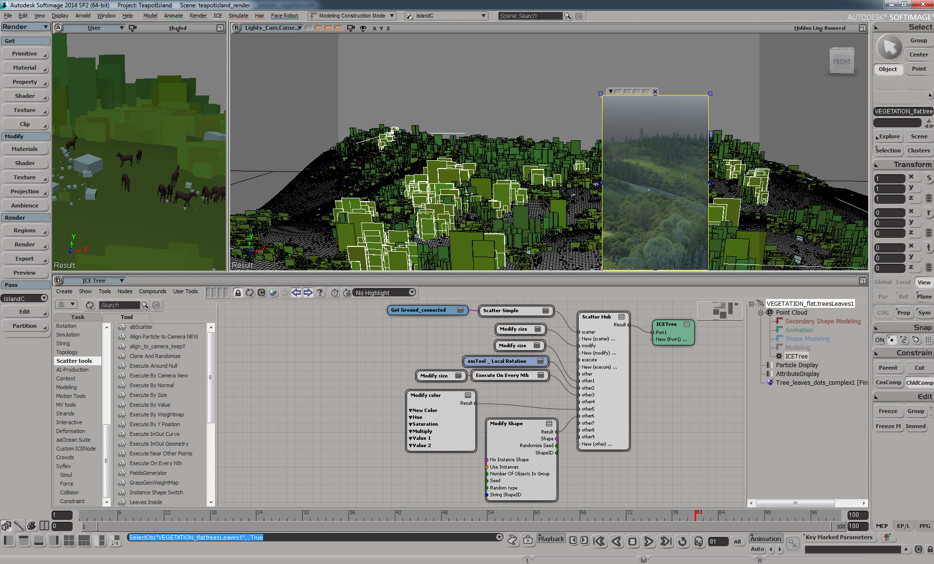 most of the work done in Softimage
