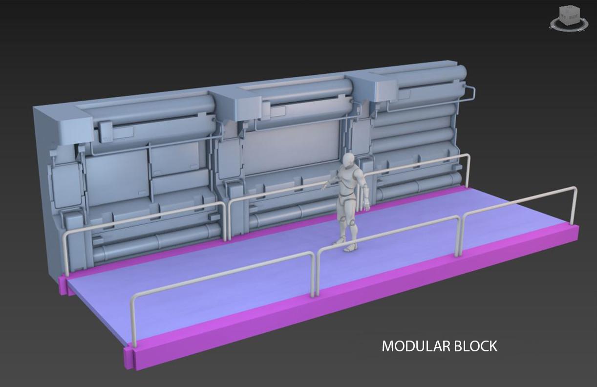 Modular block: Fernando Javier Herreros (www.artstation.com/fernandojaviergonzalezherreros)
