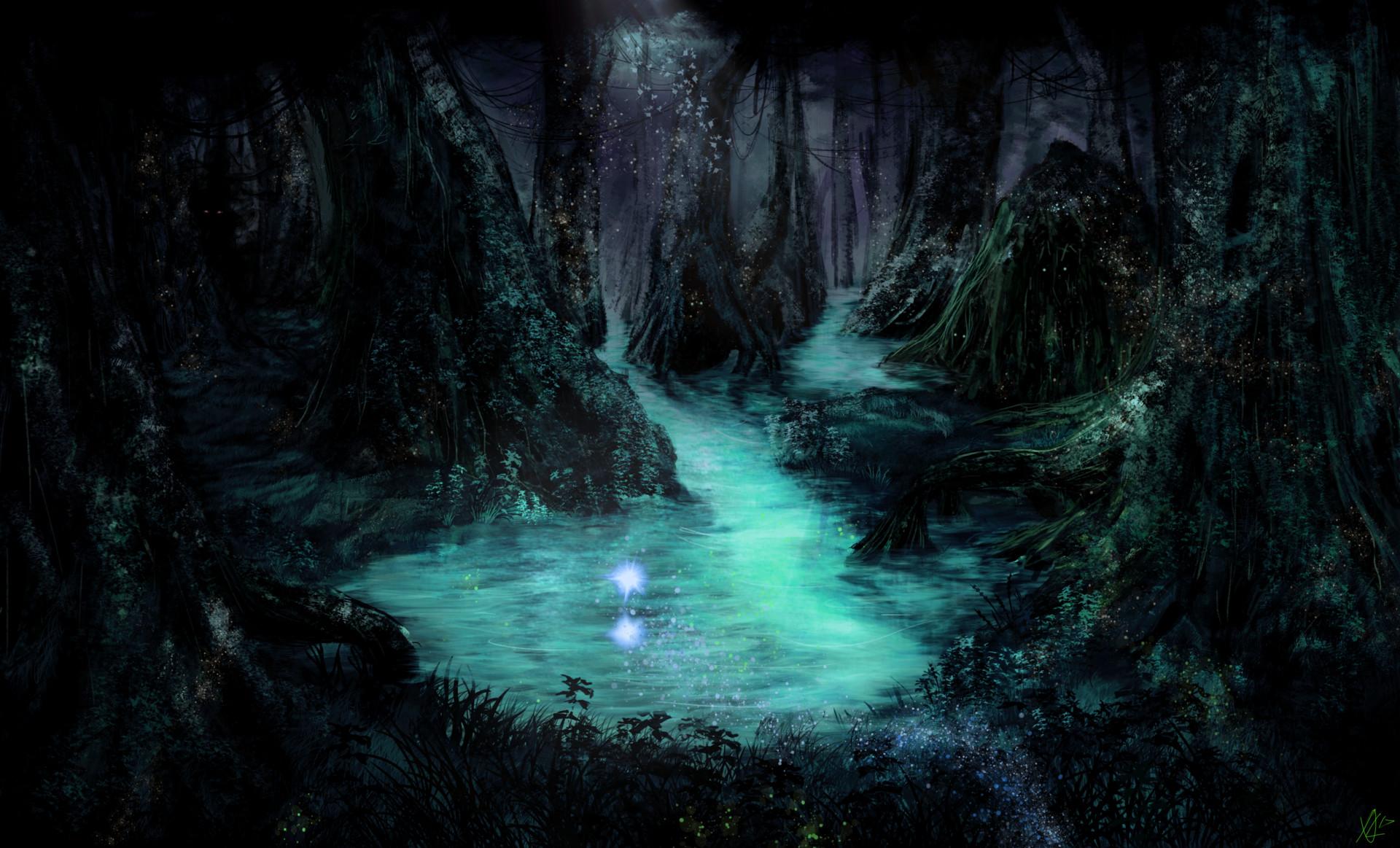 Alexander Lund Fantasy Swamp Day Night