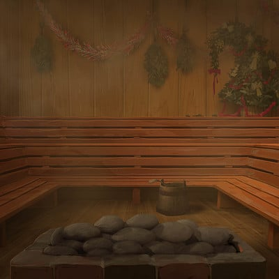 Inside the Sauna