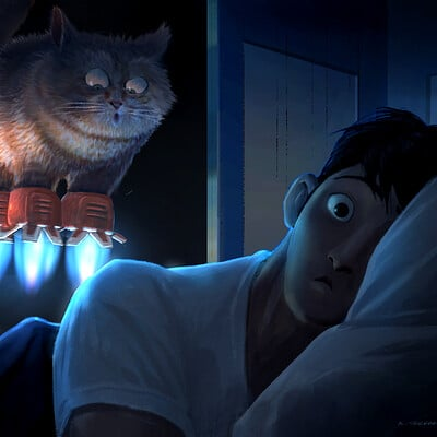 Armand serrano hero tadashi moment cat
