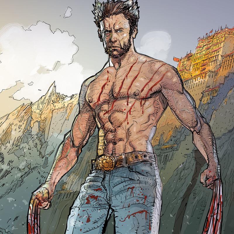 Wolverine traveling Tibet