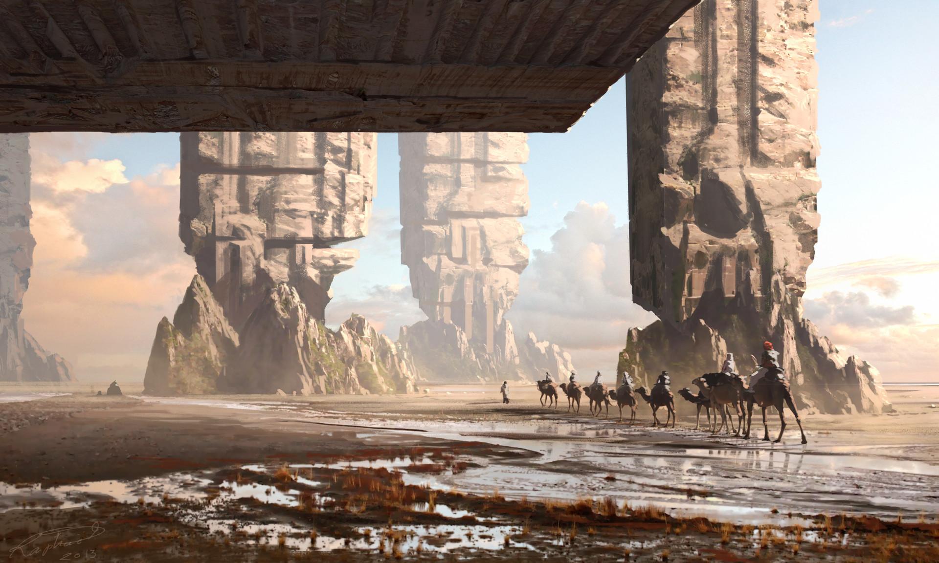 Raphael lacoste desert pillars raph