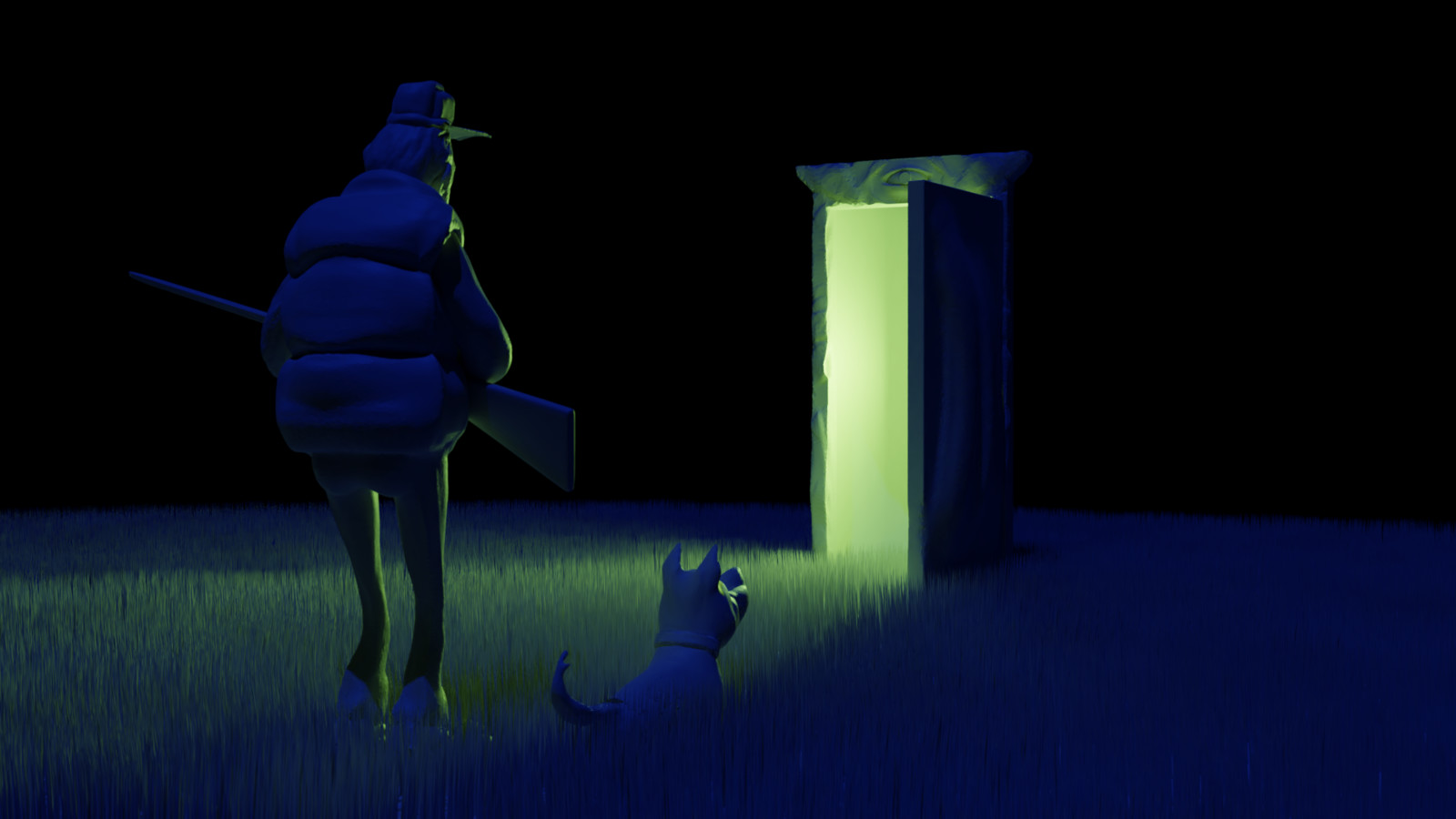 "Inspired by Gop Gap's ""Mystery Door"" https://www.artstation.com/artwork/9nbRo."
