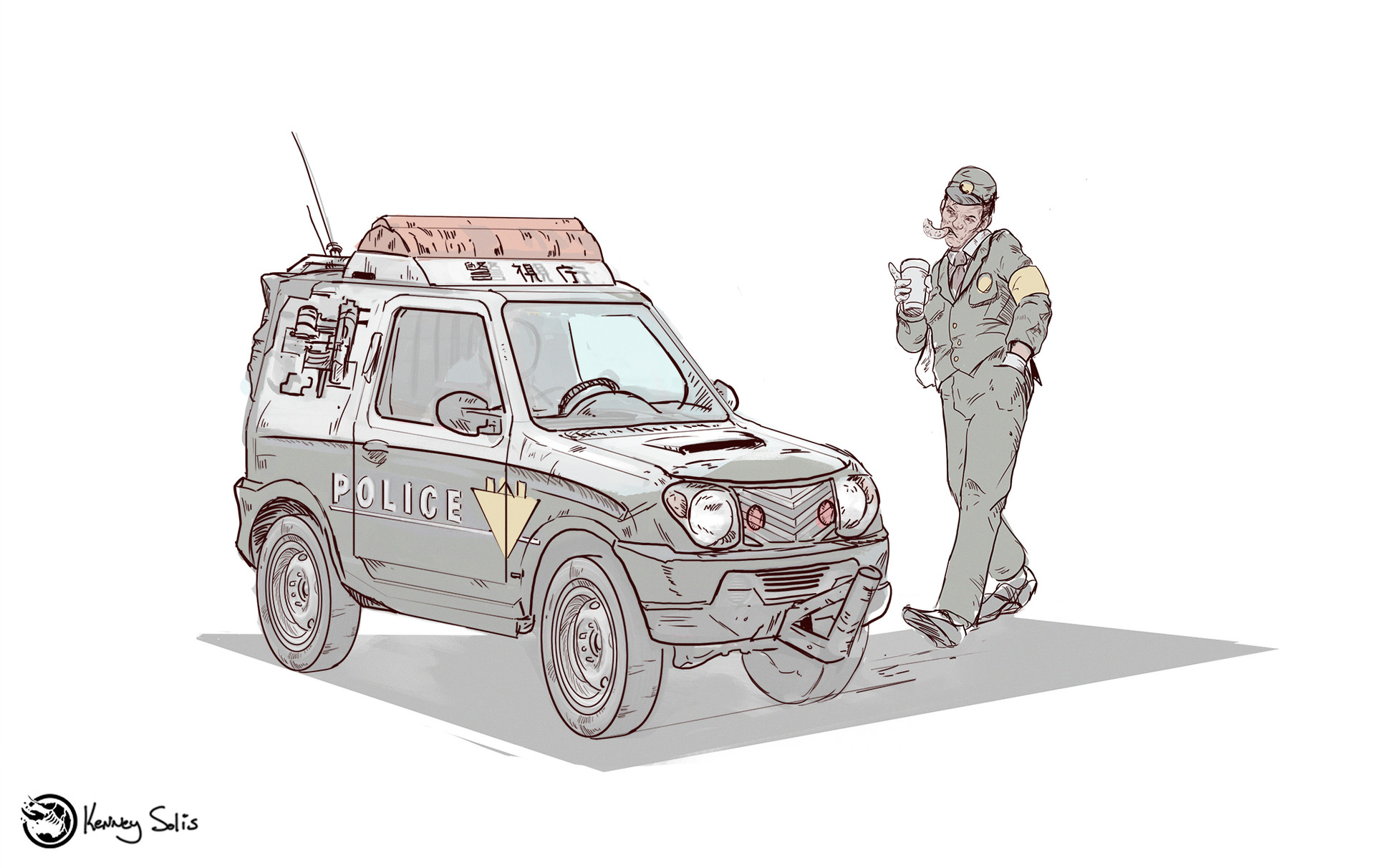 Kenneth Solis - Car Drawings and their People