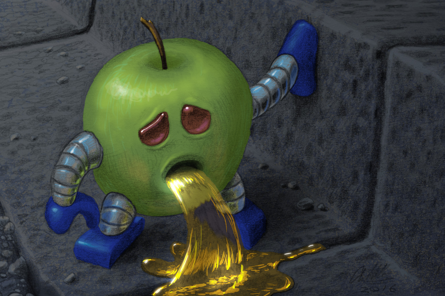 Anthony rosbottom drunk robot apple