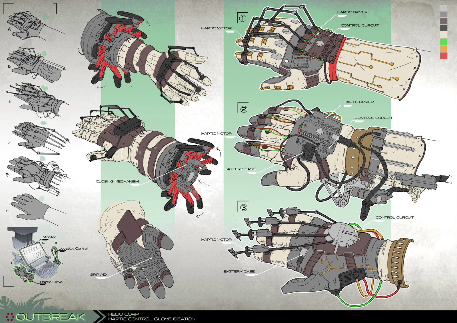 Project Outbreak - Haptic Control Glove
